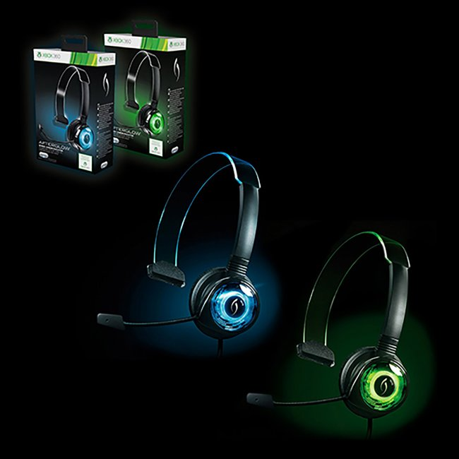 Xbox 360 - Headset - Wired - Afterglow Mono-Chat Communicator - Assorted (Green or Blue) (PDP)