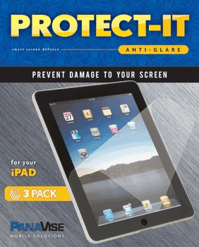 PanaVise Protect-It Anti-Glare Screen Protector (3 Pack) for Apple iPad