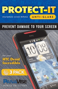 PanaVise Protect-It Anti-Glare Screen Protector (3 Pack) for HTC Droid Incredible
