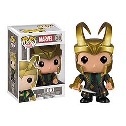 Toy - POP - Vinyl Figure - Thor 2 - Series 2 - Loki With Helmet (Marvel)