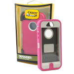 OtterBox - Defender Case for Apple iPhone 5 - Blush (Pink/White)