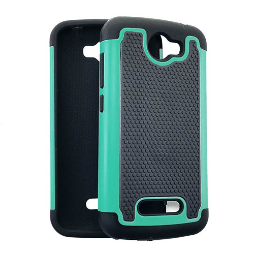 2 in 1 Case, Black & Blueish Green.