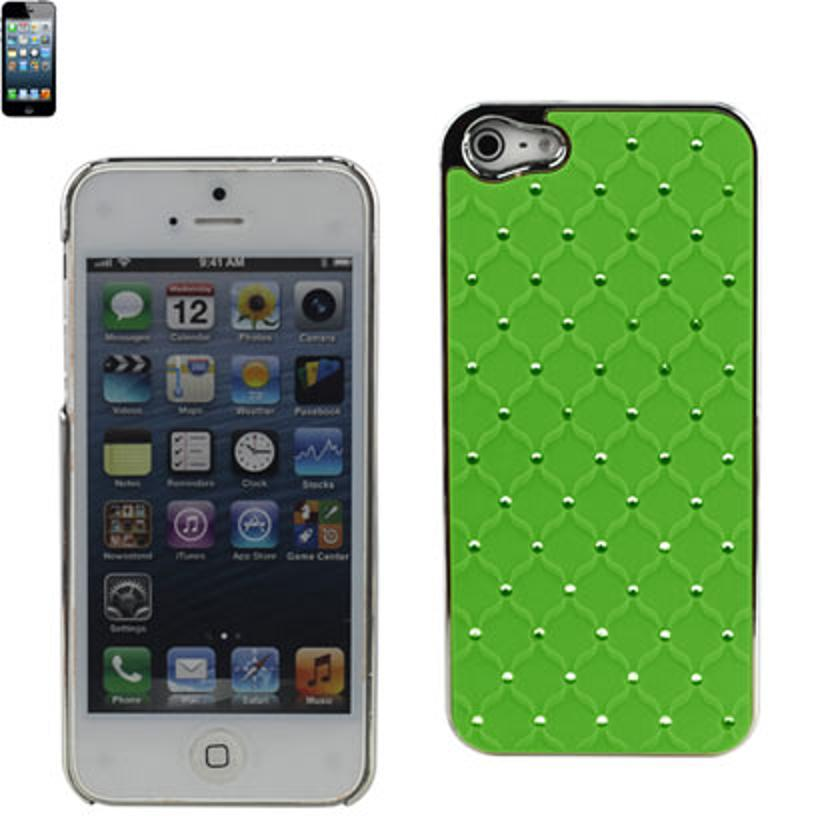 Reiko - Diamond Protector Cover for Apple iPhone 5 - Quilt Green