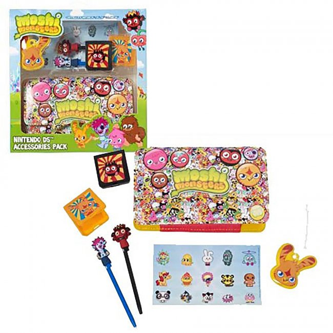 DS - Bundle - Moshi Monsters - 7 in 1 Accessory Kit - Boy Pack (Mind Candy)