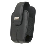 OEM Blackberry Curve 8300 8310 8320 8330 Lambskin Leather holster with swivel belt clip , Black