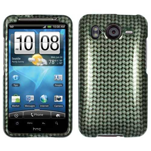 Unlimited Cellular Snap On Case for HTC Desire HD (Metal Carbon Fiber 2D Crystal Clear)