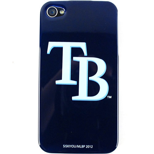 Unlimited Cellular MLB Protective Snap On Case for Apple iPhone 4 / 4S (MLB Tampa Bay Devil Rays)
