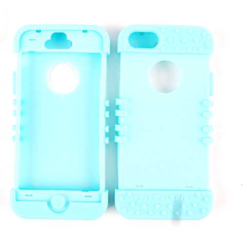 Unlimited Cellular Rocker Series Silicone Skin for Apple iPhone 5 (Fluorescent Light Blue)