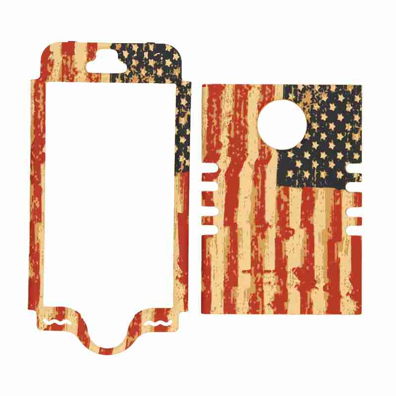Unlimited Cellular Rocker Snap-On Case for Apple iPhone 5S (Distressed USA Flag)