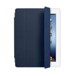 Original Apple iPad 2, 3, 4 Leather Smart Cover -Navy (MC949LL/A)
