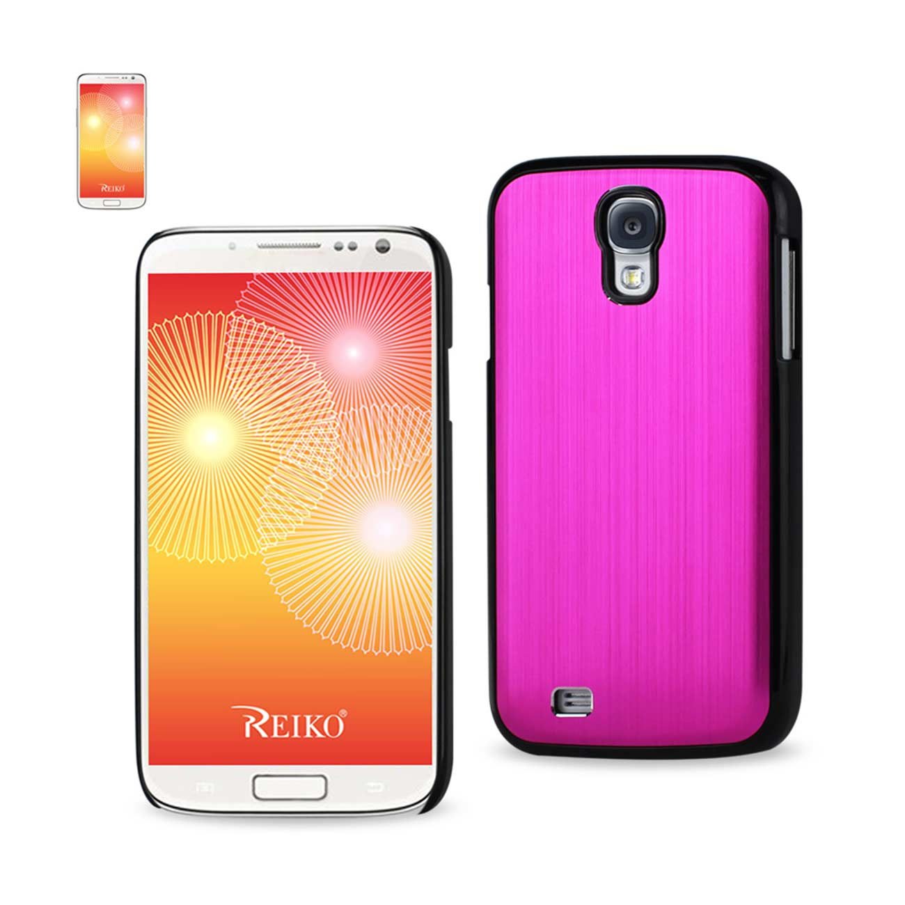 Reiko Wireless Aluminum Varnish Case for Samsung Galaxy S4 - Hot Pink