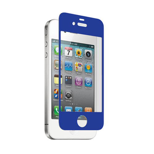 zNitro Nitro Glass Tempered Glass Screen Protector for Apple iPhone 4 / 4S (Blue)