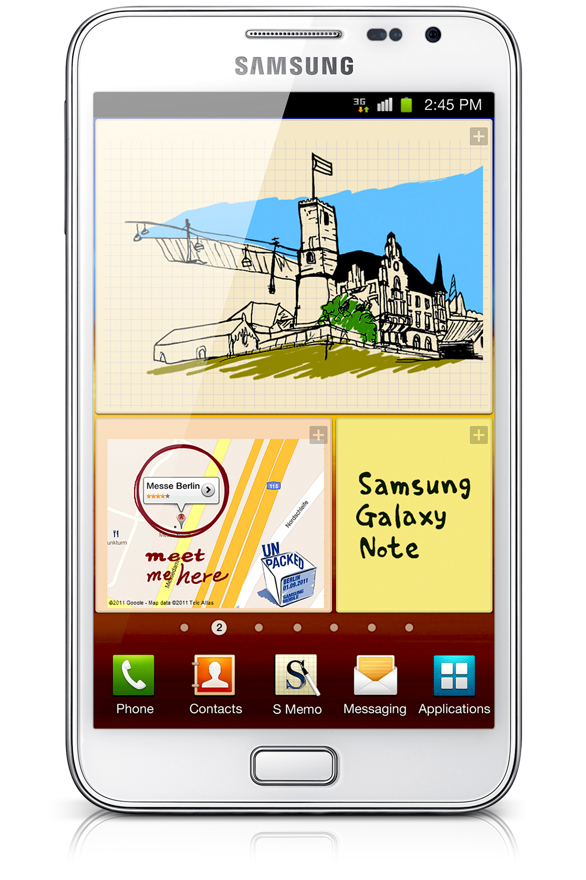 Samsung Galaxy Note 4G T879 Unlocked GSM Android Cell Phone - White