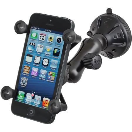 RAM Mounts Twist Lock Suction Cup Mount with Universal X-Grip (Black)