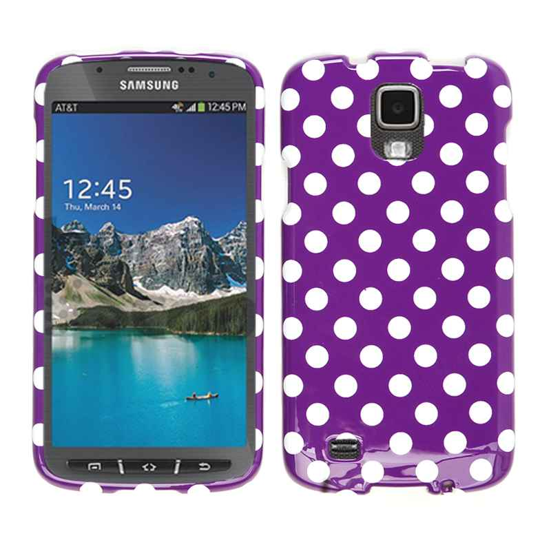 Cell Armor Snap-On Case for Samsung i9252/GS4 Active/i537 (White Dots on Purple)