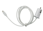Unlimited Cellular Apple Approved Lighting Car Charger for Apple iPhone 6 / 6 Plus, iPhone 5, iPad Mini (5V 2A) - White