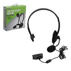 Xbox 360 - Headset - Live Chat Headset with Mic - Black - Small (Sumoto)