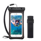 Universal Black Waterproof Pouch (with Lanyard and Armband)