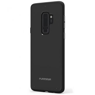SAMSUNG GALAXY S9+ PUREGEAR SLIM SHELL CASE - BLACK/BLACK
