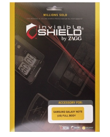 Zagg invisibleSHIELD Full Body Protective Film for Samsung Galaxy Note
