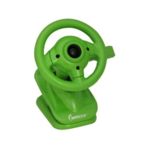 Impecca Steering Wheel Webcam with Built-in Mic (Green)