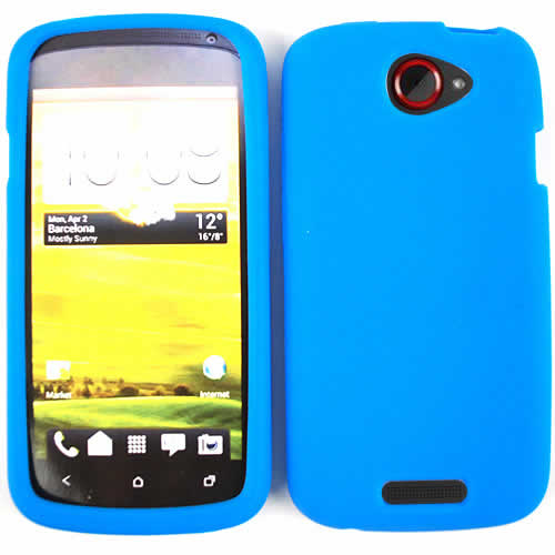 Unlimited Cellular Deluxe Silicone Skin Case for HTC One S (Blue)