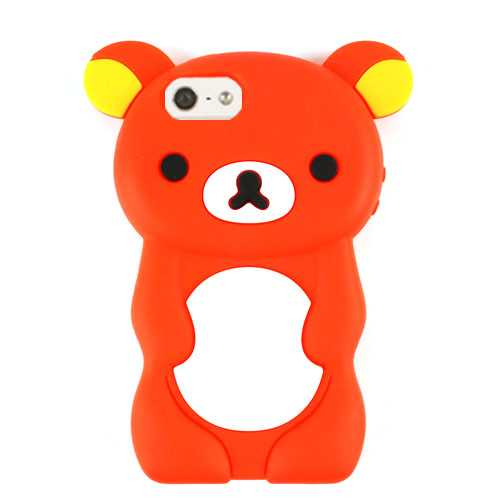 Unlimited Cellular Hybrid Novelty Case for Apple iPhone 5/5S (Red Bear)