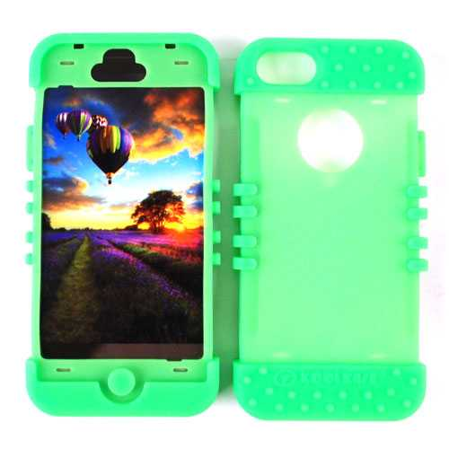 Unlimited Cellular Rocker Silicone Skin Case for Apple iPhone 5 (Fluorescent Green)