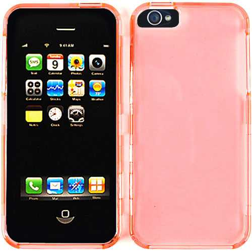 Unlimited Cellular Snap-On Case for Apple iPhone 5/5S (Trans. Pink)