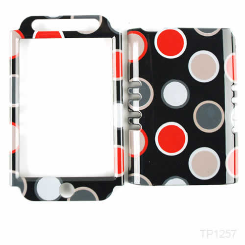 Unlimited Cellular Rocker Snap-On Case for Apple iPod Touch 4 - New Polka Dots on Black