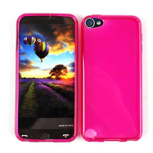 Unlimited Cellular Design Skin Case for Apple iPod Touch 5 (PU Skin, Trans. Hot Pink)