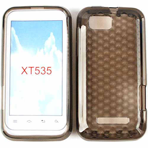Unlimited Cellular Rubber Soft Silicone Case for Motorola XT535/ Defy XT (Trans. Smoke)