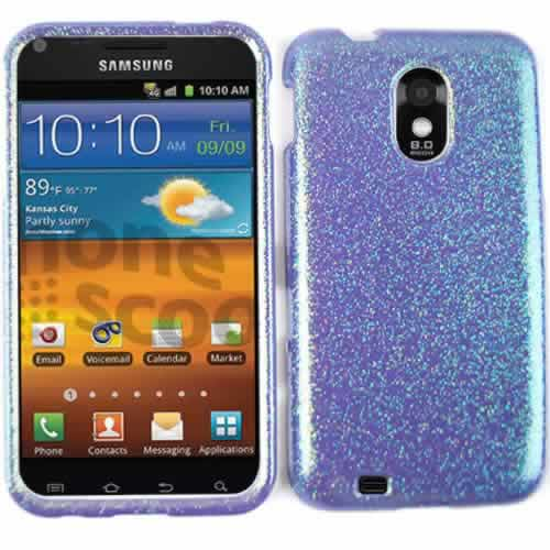 Unlimited Cellular Snap-On Protector Case for SAMD710/R760/GS2 (Rainbow Glitter Light Purple)