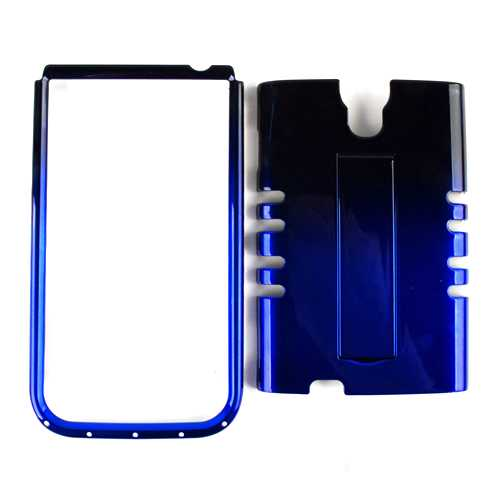 Unlimited Cellular Rocker Snap-On Case for Samsung Galaxy S4 - Two Tones Black & Blue