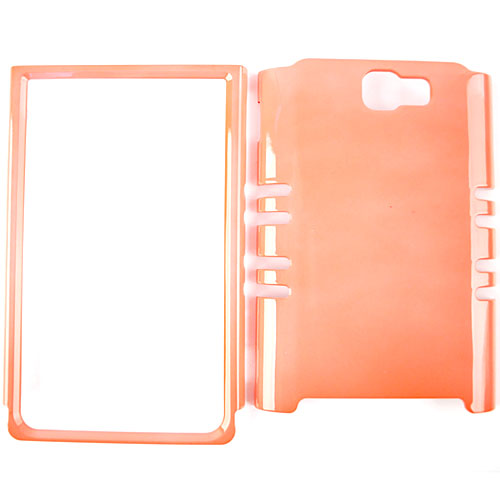 Unlimited Cellular Rocker Snap-On Case for Samsung Galaxy Note i717 - Pearl Orange