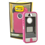 OtterBox - Defender Case for Apple iPhone 5 Cell Phones - Pink/White