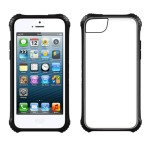 Griffin - Survivor Clear Case for Apple iPhone 5c Cell Phones - Black