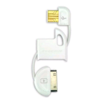 Scosche 30-Pin FlipSync Universal USB Charge n'' Sync Keychain Cable for Apple iPod/iPhone (White)