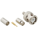 Amphenol RF 3-Piece BNC Crimp Plug for RG-58  RG-141  PL-58