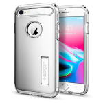 Spigen Slim Armor Case with Kickstand and Air Cushion Technology for Apple iPhone 7 / 8 (Satin Silver)
