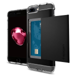 Spigen Crystal Wallet Case for iPhone 7 Plus in Black