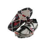 Yaktrax Run Traction Cleats with a High-strength Rubber Foot Frame - Gray/Red