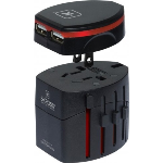 New SKROSS Black World Travel Adapter 2 w/ USB Charger
