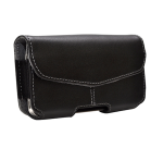 PureGear Caselux Universal Leather Pouch for Apple iPhone 4/4S (Black)