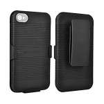 PureGear Shell Holster Combo Carrying Case for Apple iPhone 4/4S (Black)