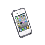 LifeProof Fre Waterproof Case for Apple iPhone 4/4S - White/Gray