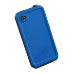 LifeProof Fre Waterproof Case for Apple iPhone 4/4S - Black/Blue