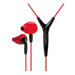 Yurbuds Sport Ironman Inspire Pro Earphones with 3 Button Mic - Red