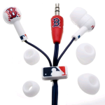 Nes Group Boston Sox Mlb Logo Baseball Earbuds (Red)