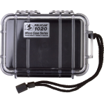 Pelican Products Waterproof Case Clear/Black 5 3/8 x 3 5/8 x1 11/16
